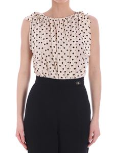 Elisabetta Franchi - Cream colored body with polka dots