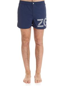 Kenzo - Blue swimsuit with logo