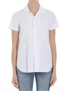 Dsquared2 - White shirt with ruffles
