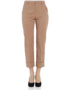 KI6? Who are you? - Camel colored trousers with turn-ups