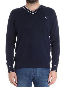 Fred Perry - Ribbed sweater with logo