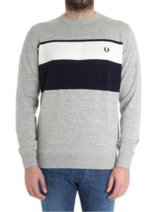 Fred Perry - Gray sweater with logo embroidery