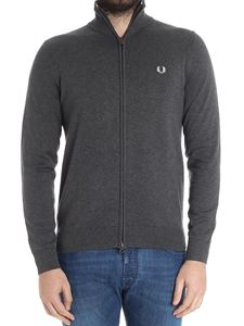 Fred Perry - Gray logo cardigan