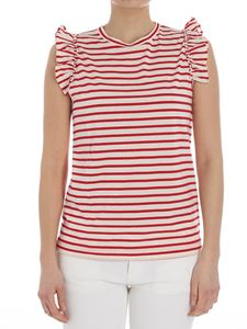 Jucca - Cream colored and red striped top