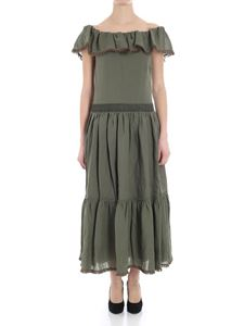 KI6? Who are you? - Green boat-neck dress