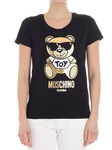 Moschino - Teddy Bear T-shirt with metallic print (Moschino Swim)
