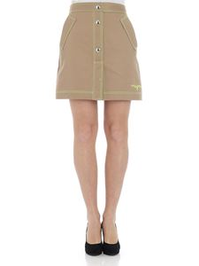 MSGM - Rope-colored skirt with logo