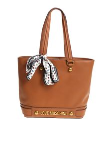 Love Moschino - Brown shoulder bag with scarf