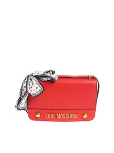 Love Moschino - Red shoulder bag with scarf