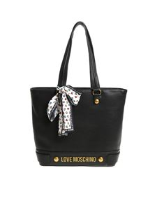 Love Moschino - Black shoulder bag with scarf