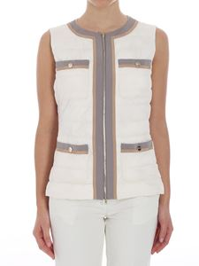 Herno - Cream-colored padded waistcoat