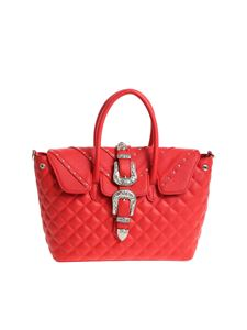 Mia Bag - Red shoulder bag with buckle