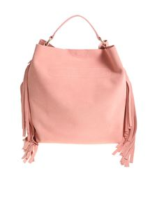 Twin-Set - Pink hobo bag with fringed inserts