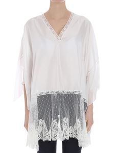 Ermanno by Ermanno Scervino - Silk caftan with lace