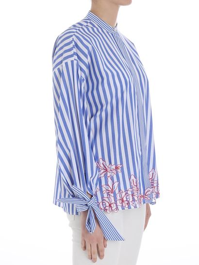 Ermanno by Ermanno Scervino - Striped shirt with lace
