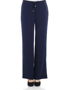 Ermanno by Ermanno Scervino - Blue palazzo pants with vents