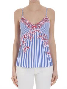 Ermanno by Ermanno Scervino - Striped top with lace