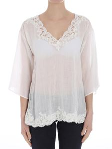Ermanno by Ermanno Scervino - Ramie blouse with lace