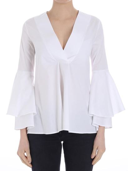 White flared blouse Ki6? Who are you? Wide Range Of Buy Cheap Discounts Discount Countdown Package Discount Shopping Online Buy Cheap Top Quality DanYOhTZ