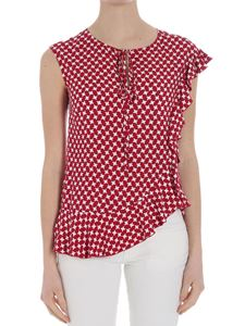 KI6? Who are you? - Red and white top with ruffles