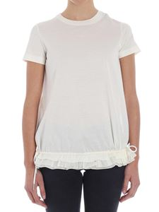Moncler - Cream-color top with laces