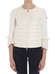 Moncler - White quilted cardigan