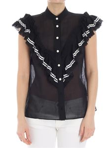 Philosophy di Lorenzo Serafini - Black top with pearly inserts