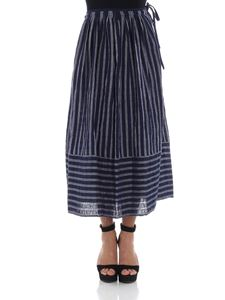 Aspesi - Blue and gray striped skirt