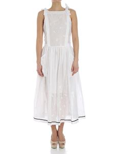 Philosophy di Lorenzo Serafini - White dress with floral embroidery