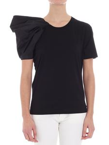 Stella McCartney - Black t-shirt with pleated sleeves