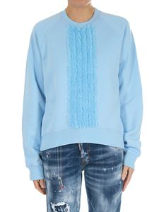 Dsquared2 - Light blue cotton sweatshirt