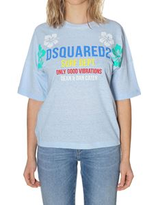 Dsquared2 - Light blue cotton t-shirt