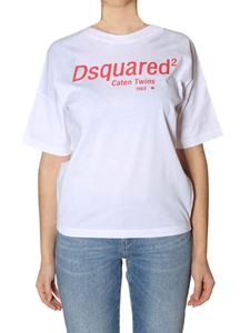 Dsquared2 - White crew-neck printed T-shirt