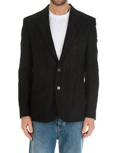 Givenchy - Black jacket with embroidered pocket