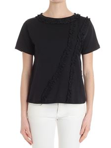 Caractère - Black t-shirt with ruffles