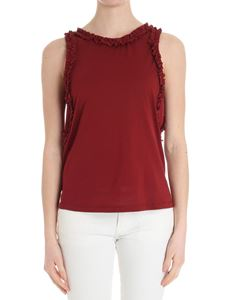 Caractère - Red top with ruffles