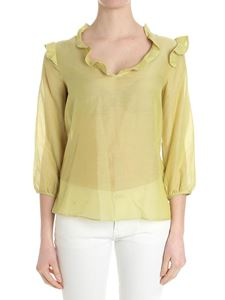 Caractère - Green blouse with ruffles