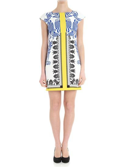 White geometric patterned dress Versace Collection Factory Outlet Online Buy Online New xqgenzBHF