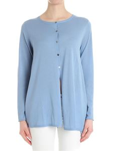 HEMISPHERE - Light blue merino wool cardigan