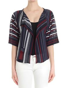 Caractère - Striped cardigan with lurex thread