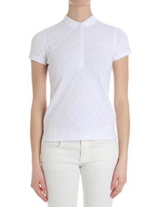 Sun 68 - White polo with rhinestones