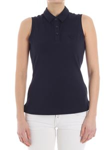 Emporio Armani - Blue polo with logo