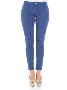 Trussardi Jeans - Blue embroidered trousers