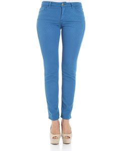 Trussardi Jeans - Light-blue embroidered trousers