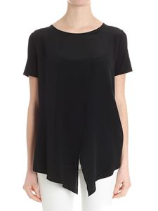 Max Mara - Black Orma flared top