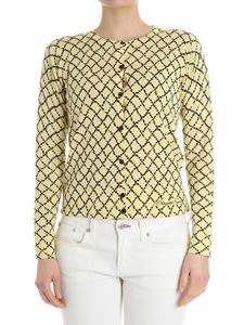 Elisabetta Franchi - Yellow diamond pattern cardigan