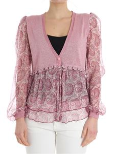 Twin-Set - Long sleeve lurex cardigan