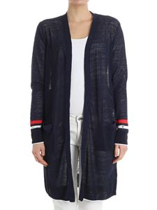 Tommy Hilfiger - Blue cardigan with red and white details