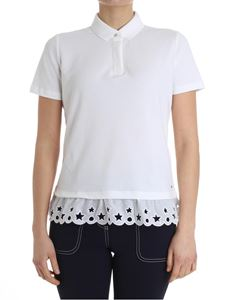 Tommy Hilfiger - White polo with embroidered bottom