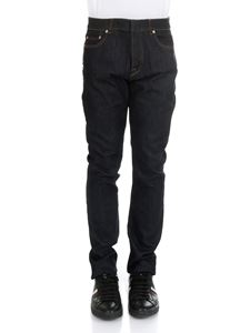 Valentino - Blue 5 pocket jeans with studs